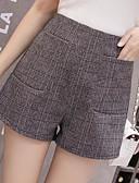 povoljno Ženske hlače i suknje-Žene Osnovni Veći konfekcijski brojevi Kratke hlače Hlače - Print, Karirani uzorak