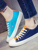 preiswerte Damen Oberteile-Damen Schuhe Leinwand Frühling / Herbst Komfort Sneakers Niedriger Heel Weiß / Orange / Blau
