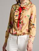 abordables Camisas para Mujer-Mujer Básico Camisa, Cuello Camisero Floral