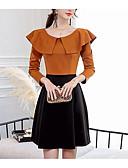 זול שמלות נשים-מעל הברך אחיד - שמלה צינור חמוד בגדי ריקוד נשים