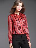 abordables Camisas para Mujer-Mujer Chic de Calle Estampado Camisa, Cuello Camisero Geométrico