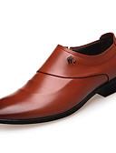 abordables Jerséis y Cardigans de Hombre-Hombre Zapatos formales Cuero Sintético Primavera / Otoño Confort Zapatos de taco bajo y Slip-On Negro / Marrón