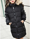 cheap Girls' Jackets & Coats-Kids Girls' Striped Long Sleeve Down & Cotton Padded