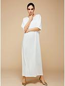 baratos Vestidos para Meninas-Mulheres Tamanhos Grandes Moda de Rua / Sofisticado Delgado Reto / Bainha / Túnicas Vestido Sólido Cintura Alta Longo