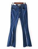 ieftine Pantaloni de Damă-Pentru femei De Bază Mărime Plus Size Blugi Pantaloni - Imprimeu, Mată