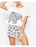 billige Topper til damer-T-skjorte Dame-Dyr,Trykt mønster Aktiv