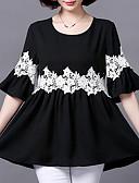 ieftine Bluză-Pentru femei Mărime Plus Size Bluză Concediu De Bază - Mată Dantelă / Vară / Larg