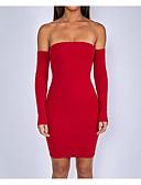 abordables Vestidos de Mujer-Mujer Bonito Corte Bodycon Vaina Vestido Un Color Mini