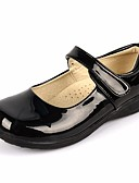 ieftine Haină Trench-Fete Pantofi Imitație de Piele Primăvară / Toamnă Confortabili Pantofi Flați pentru Alb / Negru