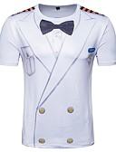 abordables Camisetas y Tops de Hombre-Hombre Básico Estampado Camiseta Geométrico