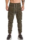 זול מכנסיים ושורטים לגברים-בגדי ריקוד גברים Military כותנה / פוליאסטר רזה מכנסי טרנינג מכנסיים דפוס, להסוות / ספורט