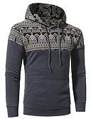cheap Men's Hoodies & Sweatshirts-Men's Plus Size Basic Long Sleeve Hoodie - Floral Hooded
