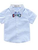 tanie Topy dla chłopców-Brzdąc Dla chłopców Aktywny Codzienny Solidne kolory Krótki rękaw Poliester Koszula Biały 100