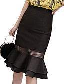 זול חצאיות לנשים-אחיד - חצאיות בתולת ים \חצוצרה בסיסי בגדי ריקוד נשים