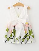 Χαμηλού Κόστους Βρεφικά φορέματα-Νήπιο Κοριτσίστικα Ενεργό Καθημερινά / Αργίες Φλοράλ Στάμπα Αμάνικο Πολυεστέρας Φόρεμα Λευκό