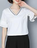 ieftine Tricou-Pentru femei În V Bluză Concediu De Bază - Mată Brodat / Vară