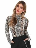 ieftine Tricou-Pentru femei Stand Tricou Ieșire Șic Stradă - Leopard / Primăvară / Toamnă / Sexy / Subțire