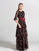 זול שמלות נשים-מקסי פרחוני - שמלה סווינג בסיסי בגדי ריקוד נשים