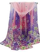 abordables Bufandas de Mujer-Mujer Malla, Poliéster Rectángulo - Básico Floral