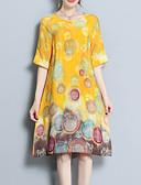 tanie Sukienki-Damskie Moda miejska / Wyrafinowany styl Puszysta Luźna Spodnie - Geometric Shape Nadruk Żółty / Wyjściowe