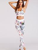ieftine Bluze & Camisole Femei-Pentru femei Mărime Plus Size De Bază Scurt Tank Tops - Floral, Pantaloni Imprimeu Fără Bretele / Vară