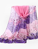 cheap Women's Scarves-Women's Basic Chiffon Rectangle - Floral Mesh