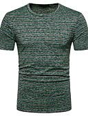 ieftine Maieu & Tricouri Bărbați-Bărbați Tricou Șic Stradă - Dungi Bloc Culoare Imprimeu