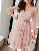 tanie Sukienki-Damskie Spódnica Sukienka - Solidne kolory Midi