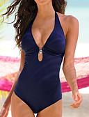 tanie Bikini i odzież kąpielowa-Damskie Brązowy Czarny Czerwony Bandeau (opaska na biust) Rzemień Jednoczęściowy Stroje kąpielowe - Solidne kolory L XL XXL / Seksowny