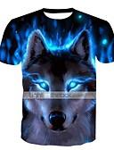 abordables Camisetas y Tops de Hombre-Hombre Básico Tallas Grandes Estampado Camiseta, Escote Redondo Delgado Animal / Manga Corta