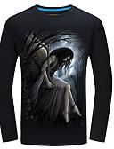 Χαμηλού Κόστους Ανδρικά μπλουζάκια και φανελάκια-Ανδρικά Μεγάλα Μεγέθη T-shirt Ενεργό / Βασικό - Βαμβάκι Ζώο Στρογγυλή Λαιμόκοψη Λεπτό / Μακρυμάνικο