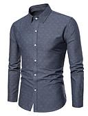 tanie Męskie koszule-Koszula Męskie Podstawowy, Nadruk Bawełna Praca Geometric Shape / Długi rękaw