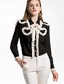 billige Todelt dress til damer-Skjortekrage Skjorte Dame - Ensfarget Grunnleggende