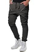 abordables Pantalones y Shorts de Hombre-Hombre Básico Pantalones Harén Pantalones - Un Color