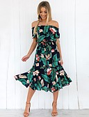 cheap Women's Dresses-Women's Cute Street chic Chiffon Dress - Floral Geometric Print