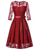 tanie Romantyczna koronka-Damskie Wyrafinowany styl Szczupła Spodnie - Solidne kolory Koronka Granatowy / Święto / Wyjściowe