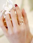tanie Suknie i sukienki damskie-mankiet Pierścień Regulowany pierścień - Kwiat, Motyl Moda Regulowany Różowe złoto Na Ślub Randka