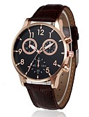 cheap Quartz Watches-Women's Chronograph PU Band Analog Casual Fashion Black / Brown - Black Brown One Year Battery Life / Stainless Steel / SSUO LR626