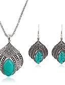 ieftine Tricou-Pentru femei Turcoaz Set bijuterii - Vintage, Modă Include Cercei Picătură Coliere cu Pandativ Argintiu Pentru Zilnic