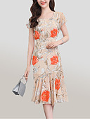 cheap Prom Dresses-Women's Going out Street chic / Sophisticated Slim Sheath Dress - Floral Print / Summer