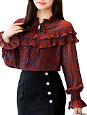 cheap Cocktail Dresses-Women's Street chic Blouse - Polka Dot / Floral Stand