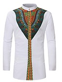 cheap Sport Watches-Men's Shirt - Tribal Print Standing Collar / Long Sleeve