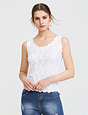cheap Women's Tanks-Women's Beach Tank Top - Solid Colored Lace / Cut Out / Summer