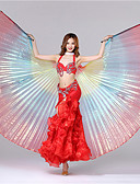 זול טישרטים לגופיות לגברים-אביזרי ריקוד בחורה יפה אביזרי במה בגדי ריקוד נשים הצגה פוליאסטר דמוי גל אופנה חג