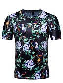 cheap Men's Shirts-Men's Active Basic T-shirt - Floral Color Block, Print