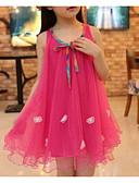 povoljno Haljine za djevojčice-Djevojka je Umjetna svila Jednobojni Žakard Izlasci Praznik Proljeće Ljeto Bez rukávů Haljina Slatko Ulični šik Fuksija