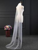 baratos Véus de Noiva-Uma Camada Estiloso / Comum Véus de Noiva Véu Capela com Pente Flôr POLY / Clássico