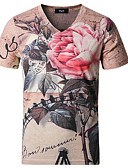 cheap Women's Dresses-Men's Chinoiserie T-shirt - Floral V Neck / Short Sleeve