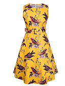 cheap Vintage Dresses-Women's Holiday Vintage Street chic Loose Sheath Dress - Floral