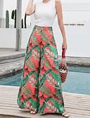 tanie Damskie spodnie-Damskie Aktywny Puszysta Bawełna Spodnie szerokie nogawki Spodnie - Frędzel, Solidne kolory / Geometric Shape Niebiesko-biały / Czarno-czerwony / Motyl